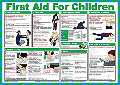 Safety First Aid Laminated First Aid for Children Poster from Safety First Aid Group