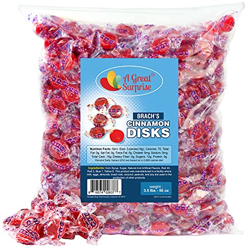 Brachs Cinnamon Candy - Brach's Cinnamon Hard Candy - Red Candy - 3.5 LB Bulk Candy
