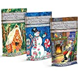 Ground Coffee Christmas Gift Set - 9oz of Three Holiday Flavors in Decorative 3oz Bags - Gingerbread Spice, Peppermint Mocha, Santa's Fireplace S'mores -Freshly Made by Saint Nicholas' Coffee Roastery