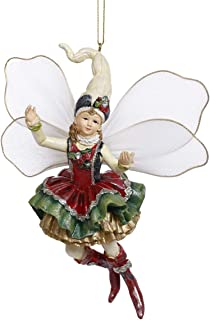 Mark Roberts Resin Limited Edition Fairy Hanging Ornament with Fabric Wings 6 Inches (Fairy Girl 63-93258)