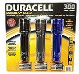Duracell Durabeam Ultra 300 Lumens Tactical High-Intensity Compact LED Flashlight, 3-Pack