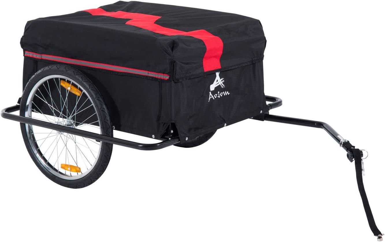 Aosom Elite Two-Wheel Bicycle Large Cargo Trailer