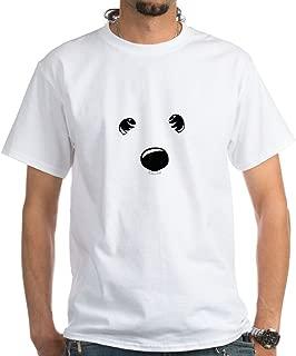Westie Face White T-Shirt Cotton T-Shirt