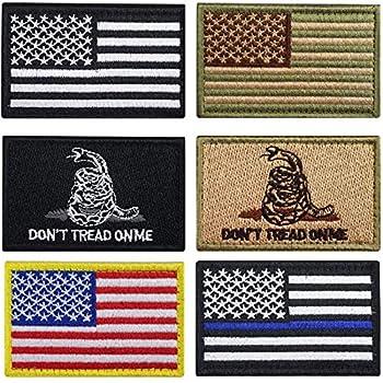Bundle 6 Pieces Tactical Military Patch Set  A