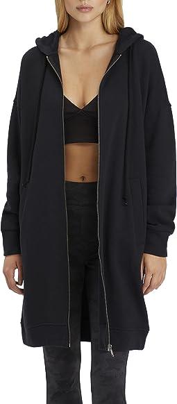 City Coat Fleece Zip-Up Long Hoodie