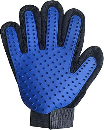 Dog Cat Deshedding Cleaning Brush Magic Glove Pet Hair Massage Grooming Groome,Blue Right Hand