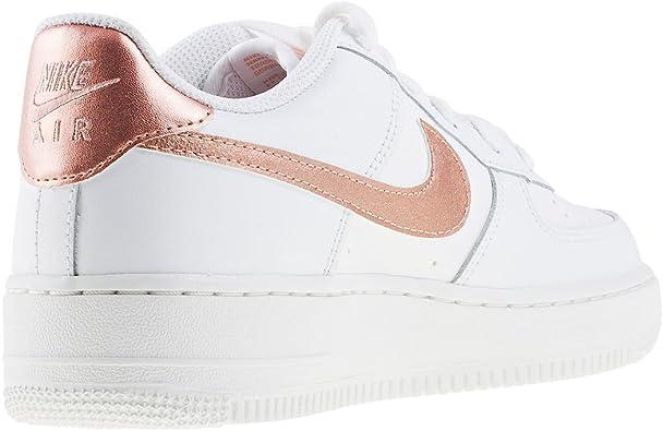Nike Air Force 1 GS Baskets pour enfant Blanc Taille 36 : Amazon.fr ...
