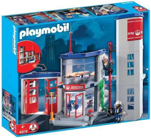 Playmobil - 4819 - Jeu de construction - Caserne de pompiers