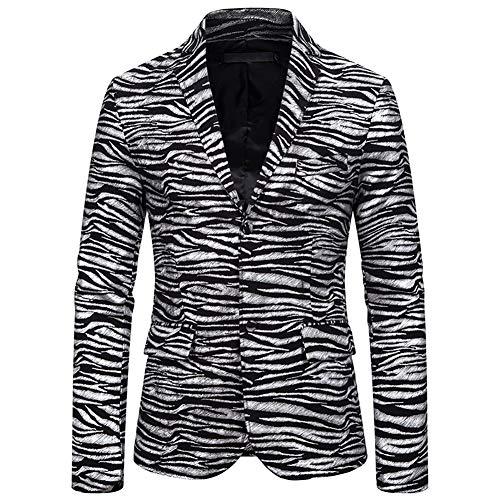 Story of life Herenmode Blazer Slim Fit tijgerpatroon Hot Stamping Printed Jacket jurk kostuum prom party