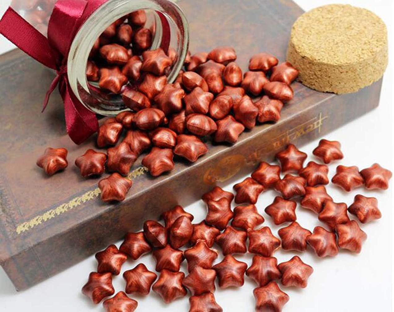 FQL 1 Bottle Of Star Shape Sealing Wax Sticks Beads For Wax Seal Stamp (Red Golden)