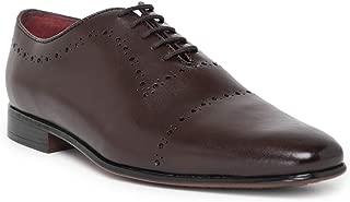 NOBLE CURVE Cherry Leather Wholecut Oxford Shoes