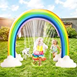 DG-Direct Outdoor Rainbow Sprinkler, Outside Water Inflatable Sprinkler Toy for Children Infants Boys Girls and Kids, Rainbow Inflatable Water Slides Fun Park Toys Perfect for Backyard Lawn Beach