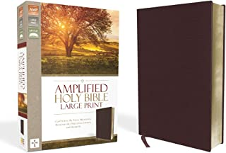 Amplified Holy Bible, Large Print, Bonded Leather, Burgundy: Captures the Full Meaning Behind the Original Greek and Hebrew