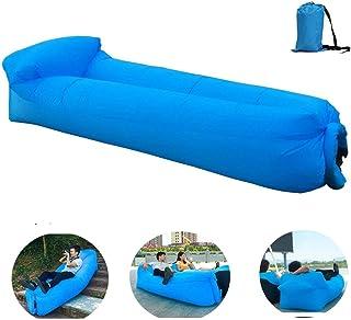 OXENDURE Tumbona inflable Sofá de aire Hamaca portátil, a prueba de agua Diseño ideal Sofá para patio trasero Lakeside Beach Viaje Camping Picnics y festivales de música