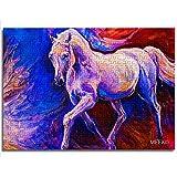 CCBRA 1000 Pezzi Giochi Puzzle per Adulti e Bambini Cavallo Bianco Dipinto Regali Unici per Coppie e Amici Puzzle in Legno