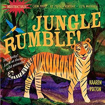 Indestructibles  Jungle Rumble!  Chew Proof · Rip Proof · Nontoxic · 100% Washable  Book for Babies Newborn Books Safe to Chew