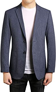 YOUTHUP Mens Slim Fit Blazer Formal Business Lightweight Suit Jacket 2 Button Blazers