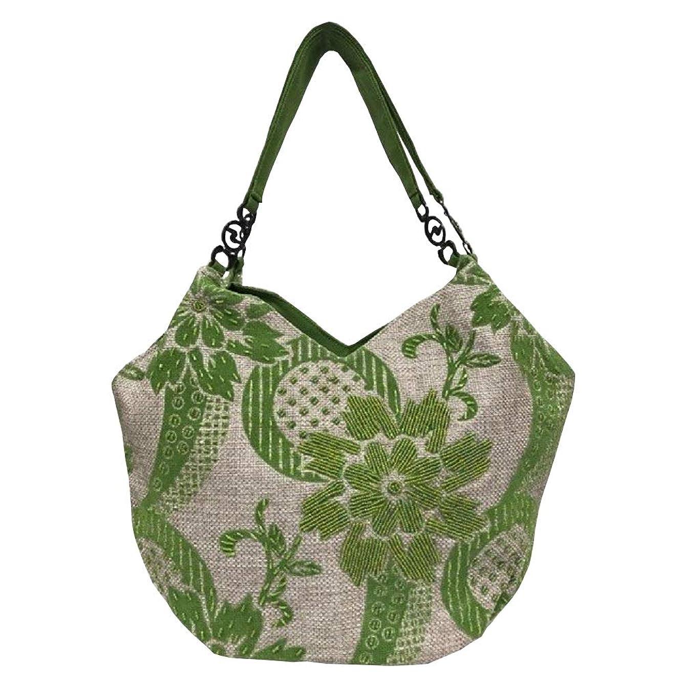 勇者読み書きのできないご覧くださいベトナムバッグ ビーズバッグ チェーン トートバッグ 肩掛け 鞄 ベトナム雑貨