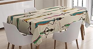 ABAKUHAUS Africain Nappe, Vintage Loval Traditionnel, Linge de Table Rectangulaire pour Salle à Manger Décor de Cuisine, 1...