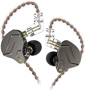 KZ ZSN Pro Auriculares de Metal Tecnología híbrida 1BA + 1DD HiFi Auriculares para Bajos En el oído Auriculares Monitor Auriculares con cancelación de Ruido (Negro sin microfono)