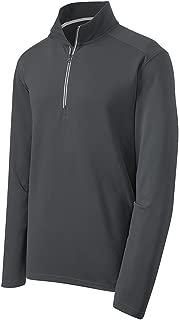 Moisture Wicking Textured 1/4-Zip Pullover Sweatshirt