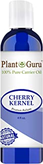Cherry Kernel Oil 4 oz Cold Pressed 100% Pure Natural Carrier - Skin, Face, Body and Hair Growth Moisturizer. Great For DYI Creams, Lotions and Lip balms.