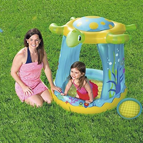 CNZXCO Children's pool, Paddling pool, swimming pool, paddling pool in turtle shadow, sand basin, oceanball basin, inflatable floor, paddling pool for children, sprinkler children
