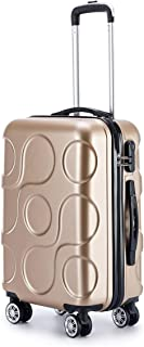 """SRY-Luggage ABS Material Trolley Case, Business Luggage, Roller Walking Scroll Box, 20"""" 24"""" Inches Durable Carry on Luggage (Color : Gold, Size : 24inch)"""