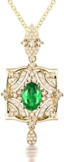 real emerald pendant