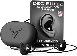 Decibullz Custom Molded Earplugs Pro Pack (Black,)