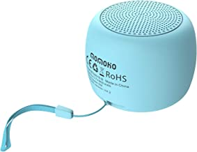 momoho Small Bluetooth Speaker - Mini Size but Great Sound Quality,up to 5 Hours Playtime,Photo Selfie Button & Answer Phone Calls,BTS0019 (Blue)