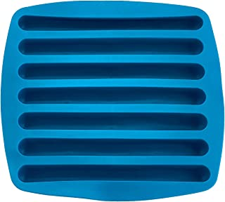 Kitch N' Wares Silicone Ice Cube Sticks Tray - Blue Color Stick Size Ice Tube Tray - Perfectly Shaped for Fitting in Water Bottles – Colorful, Flexible and Non-Stick