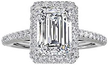 TenFit Jewelry Women's Ring 18k Gold Plated Square Cubic Zircon Engagement Ring 118
