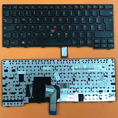 kompatibel mit Lenovo Thinkpad T450 T450s Tastatur Farbe schwarz mit Stick Point Deutsches Tastaturlayout