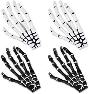 Korean Style Gothic Skeleton Hands Bone Hair Clips - Black and White Fashion Punk Rock Devil Claw Alligator...