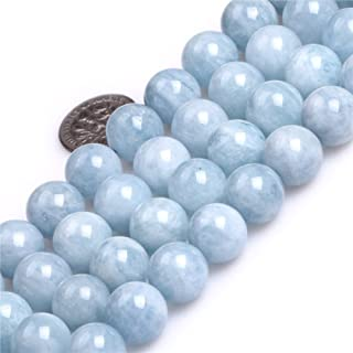 Aquamarine Beads for Jewelry Making Natural Semi Precious Gemstone 12mm Round AAA Grade Strand 15