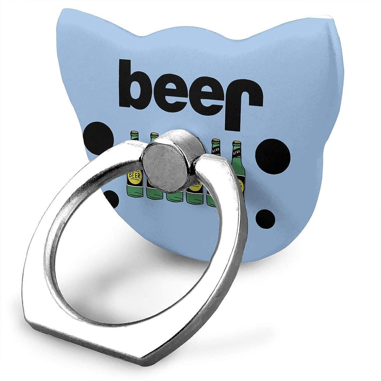 コンプリート広告主振り向くジープ 酒 おもしろ スマホリング 猫耳 ホールド リング 指輪リング 薄型 おしゃれ 落下防止 360° ホルダー 強吸着力 IPhone/Android各種他対応