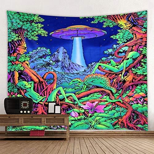 Yehapp Tapiz de Champiñón, Diseño de Bosque de Hongos para Colgar,Tapiz de Pared Decoraciones de Paredes Interiores, telones de Fondo Vivos,Telas de alfombras de Picnic,Tapiz de Bosque,150x200cm