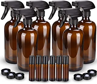 Glass Spray Bottle, Wedama Amber 10 Glass Spray Bottle Set & Accessories for Aromatherapy Facial hydration Watering Flower...