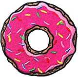 PatchClub Pink Donut Patch Iron On/Sew On Strawberry Sprinkles Doughnut Candy Embroidered Iron On Patches for Backpack, Bag, Jacket, Jeans