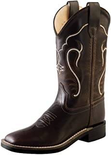 Old West Boys' Cowboy Boot Square Toe - Bsc1887
