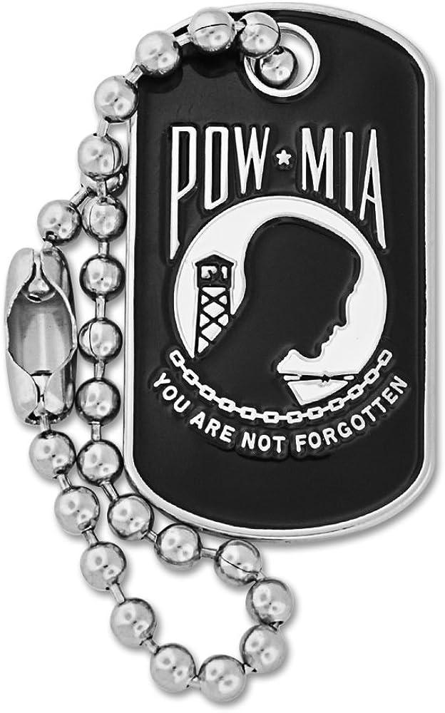 PinMart Military P.O.W. M.I.A. Dog Tag Lapel Pi 品質検査済 Enamel 売り込み Key Chain