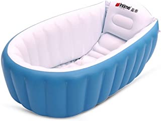 Intime Swim Center Paradise Inflatable Baby Tub Kids Pool Hot Inflatable Toddler Tub ,Blue