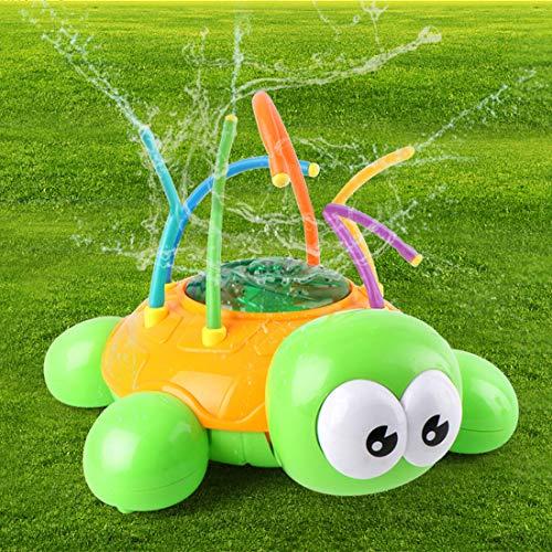Bigbanker Water Sprinkler Toy Hydro Swirl Spinning Splash Turtle for Kids Outdoor Water Play Fun(Tortoise)