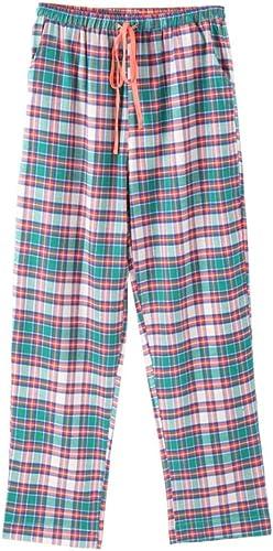 Baujuxing Le Coton Peut être porté à l'extérieur de la Maison avec Un Pantalon de Pyjama, Un Pantalon à voiturereaux en Coton tissé à Ressort 100% Coton, l
