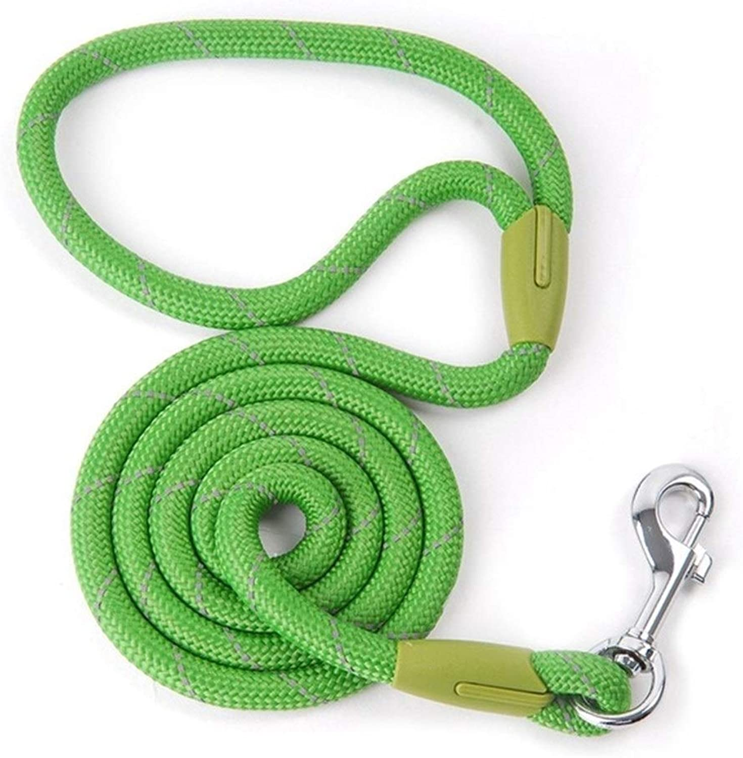 BeTTi Pet Products Dog Leash for Small Large Dogs Leashes Reflective Dog Leash Rope Pets Lead DogCollar Harness Nylon Running Leashes (color   Green, Size   L 1.2 x 120 cm)