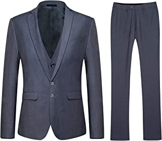 YOUTHUP Men's Slim Fit 3 Piece Business Wedding Suit Tuxedo