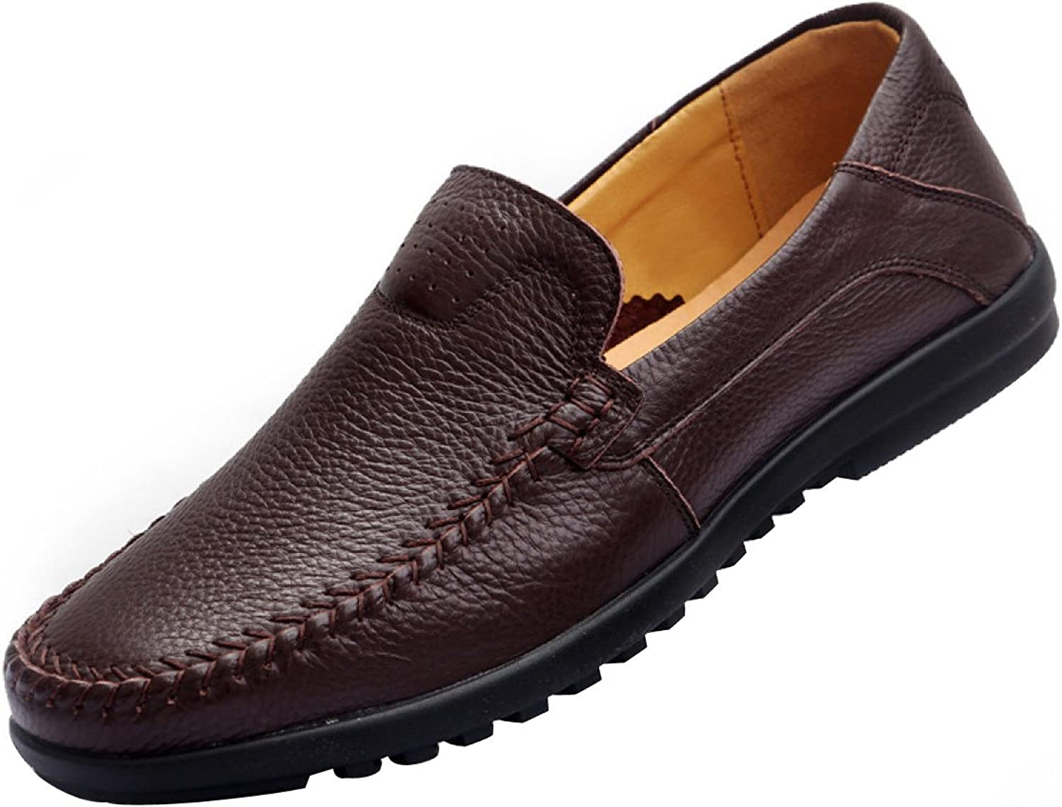 GTYMFH Men's Leather Loafers Casual Flat shoes Slip On