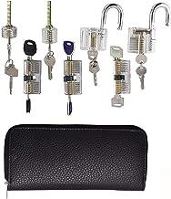 Lock Pick Set Praktijk Pick Set voor Slotenmaker Beginner,24 stks Verwijder Pick Tool met verschillende transparante slote...