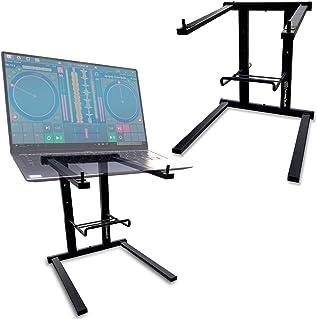 AxcessAbles DJLTS-01 Lightweight Folding DJ Laptop Stand (Black)